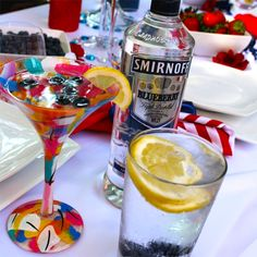 The Red, White and Blues party is not complete without the Smirnoff Blueberry Dreams cocktail! Smirnoff Blueberry Dreams drink recipe includes 1.5 oz SMIRNOFF® Blueberry Flavored Vodka and 3 oz. Fresh Lemonade. Mix these together in an ice filled Collins glass with a rim of course sugar. Garnish with blueberries and lemon wheels.