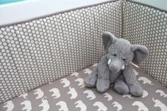 organic gray 5piece bedding by iviebaby on Etsy