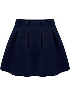 Navy Casual Ruffle Skirt 15.00