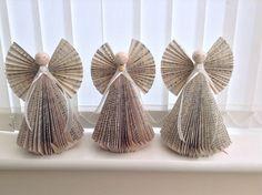 , Book Folding Angel, Book Art, Christmas Tree Book Folding, Book ...