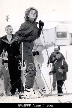 January 24, 1985: Princess Diana on skiing holiday in Malbun, Liechenstein.