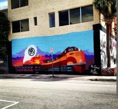 Miami-based artist Derek Wilson created a masterpiece on the Western facade of McCormick Place in downtown, Miami called 'The Spirit of Flagler' - the mural was curated by Miami Art Scene - it's an amazing tribute to the Flagler Railway and to the history & legacy of our amazing city. Just a few finishing touches left, but the completed mural will be unveiled this Friday Nov.1, 2o13 at the Downtown First Friday Art Walk - 111 SW 3rd Street in Miami FL 3313o from 6-11pm. Come celebrate with…