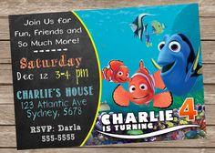 Encontrar la invitación de cumpleaños de Nemo por PrintzNThings