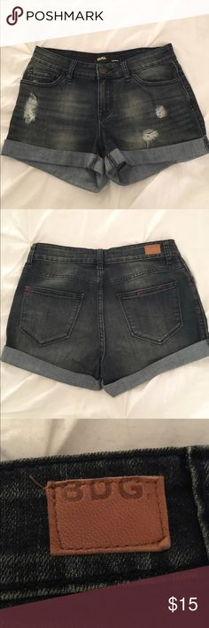 "BDG ""Shortie"" Jean Shorts - Size 28 BDG ""Shortie"" Jean Shorts - Size 28 - Distressed dark denim - Great condition, barely worn, no damage BDG Shorts Jean Shorts"