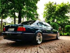 BMW E38 7 series green deep dish