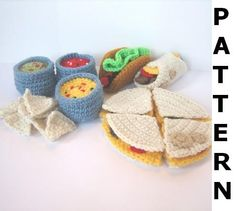 Play Food Crochet Pattern Mexican Food by CrochetNPlayDesigns