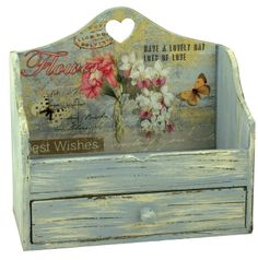 "Carved Heart Letter Rack Height: 14"" - 35cm Width: 15"" - 38cm"