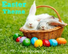 Easter Theme Activities for Preschool. Literacy, math and more with bunnies and chicks!