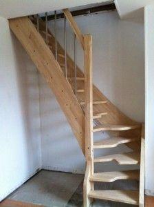 escalier gain de place hévéa