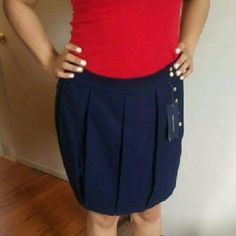 Tommy Hilfiger peacoat navy blue skirt NWT Amazing color and beautiful detail Tommy Hilfiger Skirts