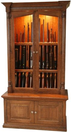 Just Found This Wood Gun Cabinets Cherrywood Security