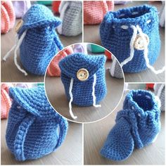 Mini rugzakjes - sabinehaakt.simplesite.com Dice Bag, Crochet Hats, Diy Projects, Knitting, Sewing, Womens Fashion, How To Make, Bags, School
