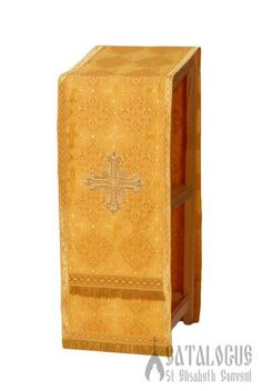 The sewing workshop of St Elisabeth Convent makes analogion covers in 7 liturgical colors, based on your preferences Gold Embroidery, Religious Icons, Decorative Boxes, Sewing, Cover, How To Make, Silk, Catalog, Dressmaking