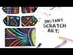 Instant Scratch Art - Easy Oil Pastel Project for Kids & Adults! - YouTube