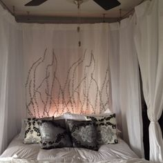 *hubby homemade canopy bed* ~ Now all thatu0027s left is to brand the wood and stain it) | Home u003c3 | Pinterest | Homemade canopy Canopy and Woods & hubby homemade canopy bed* ~ Now all thatu0027s left is to brand the ...