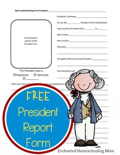 Are you learning about the American Presidents? If so, then why not compile a notebook of the Presidents with my easy to use FREE President Report Form. Come and see it for yourself today!