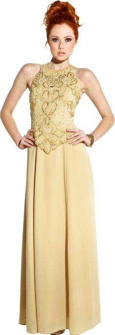 Mother Of The Bride Sleeveless Formal Wedding Gown MOB Dress http://www.amazon.com/exec/obidos/ASIN/B003NT4KMY/hpb2-20/ASIN/B003NT4KMY I ordered according to the size chart and it fit perfect. - I purchased the extra large and except for some MINOR alteration under the arm pits and the shoulders, the dress fit perfectly. - The dress is extreamly well made and the beading is beautifully done.