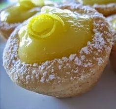 Lemon Cookie Tarts | Is it a cookie or is it a tart ? :) My favorite is lemon. I have made these tarts filled with Bailey's Chocolate Mousse. Also banana cream or coconut pie filling will work nicely to.
