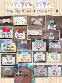 Dog house signs and plaques personalised dog gifts https://m.facebook.com/Craftyyhandss