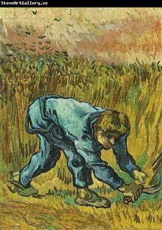 ♥ Reaper with Sickle ♥ Vincent van Gogh