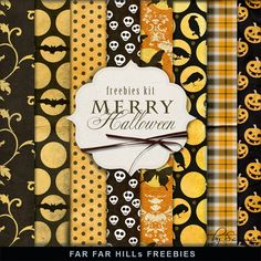 FREE New Freebies Kit of Paper - Merry Halloween