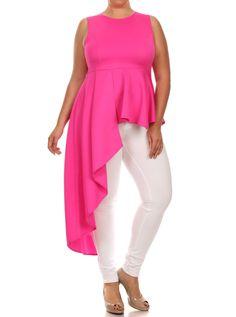 42aede9e4c63f Plus Size Gala Asymmetrical Pink Maxi Shirt Dress Clubbing Outfits Plus Size