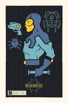 DC Superhero Profiles: Blue Beetle by daabcreative