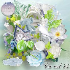 bee_cuvol75_pv Light Blue Background, Blue Backgrounds, Scrapbook Paper, Digital Scrapbooking, Creations, Bee, Flowers, Paper, Honey Bees