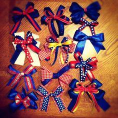 KU game day bows!