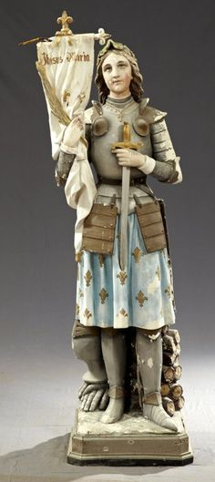 Statue of St. Joan of Arc, 19th c http://www.bing.com/images/search?q=St Joan Of Arc