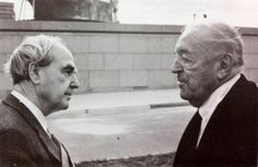 Henry Moore and Ludwig Mies van der Rohe at the Neue Nationalgalerie, Berlin. 1967