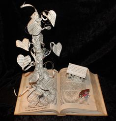Folded Pages Book Sculpture Art | Jack and the Beanstalk Book Sculpture by *wetcanvas on deviantART