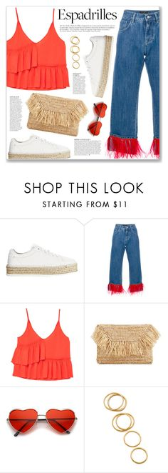 """Step into Summer: Espadrilles"" by myduza-and-koteczka ❤ liked on Polyvore featuring rag & bone, Dolce&Gabbana, MANGO, Anja and Gorjana"