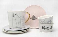 Kühn Keramik's illustrated (quirky!) ceramics