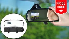 Buy 2.7 Inch LCD HD Rearview DVR Mirror Camera with Anti Shake for just £17.99 Improve road safety with theHD Rearview DVRMirrorCamera      Includes 1xHD rearview DVR camera, 1x cigarette lighter car charger, 1x USB cable and Instructions      Features a 120° wide angle viewing with up to 720p HD full colour video resolution      Mount directly onto your windshield for increased...