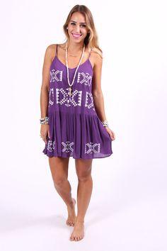 Cherry Purple Dress