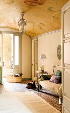 Beautiful interior of a Tuscan villa