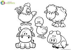 Afbeeldingsresultaat voor kleurplaat boerderijdieren