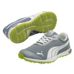 95e88374d4c Puma Biofusion Spikeless Mesh Mens Golf Shoes Tradewinds Lime Waterproof Golf  Shoes
