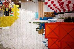 30,000 Paper Kites for Jacob Hashimoto's Gas Giant Kite Installation
