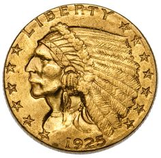 Lot 42: 1925 $2 1/2 Gold XF Details;