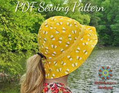 Garden Hat Beach Hat PDF Sewing Pattern by StitchwerxDesigns