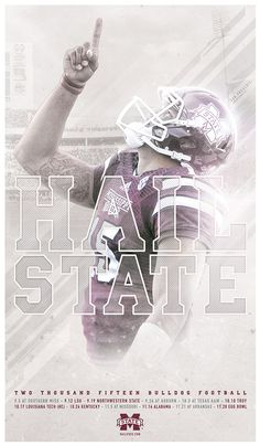 2015 Mississippi State Spring Football Posters on Behance