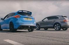 One of the world's fastest hot hatchbacks meets the world's fastest SUV in a battle for drag strip supremacy. Can the plucky Focus RS see off the 2440kg, £160k ...