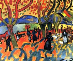 The Promenade André Derain - 1906
