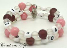 Bracelet d'allaitement OLFÉE  Rose givre de par CreationsOlfee, $20.00