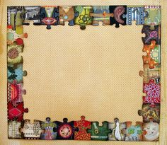 Could print out family photos and glue them onto puzzle pieces.  Use them as is or take a digital photo and use in scrapbooking.