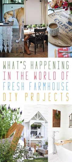 What's Happening in the World of Farmhouse DIY Projects