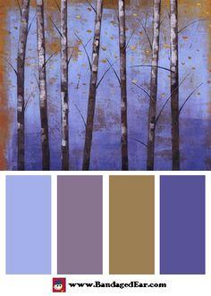 Color Palette: Birch Trees II, Art Print by Cheryl Martin