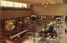Westland Mall, Westland, MI the way I remember it from my childhood. Not sure of the year of this photo.Late 1960's, early 70's?